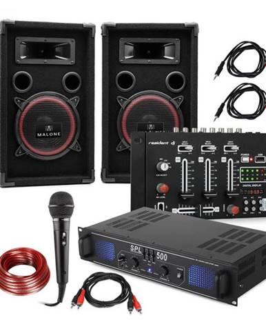 Electronic-Star DJ-14 USB, DJ PA set, PA zosilňovač, USB mixér, 2 x reproduktor, karaoke mikrofón