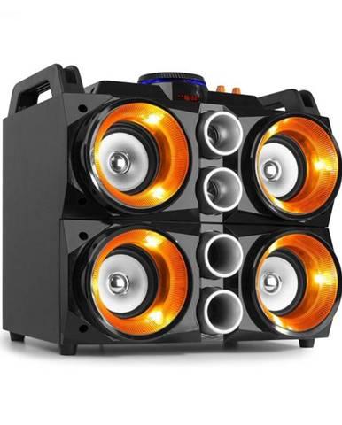 """Fenton MDJ200, párty stanica, 150W, 4x4"""" reproduktory, 2000mAh batéria, čierna/oranžová"""