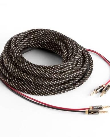 Numan reproduktorový kábel, OFC, medený, 2 x 3,5 mm², 5 m, textilný obal, štandardizovaný