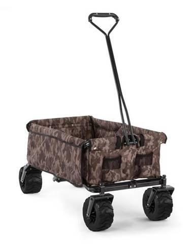 Waldbeck The Camou, ručný vozík, skladací, 70 kg, 90 l, kolesá Ø 10 cm, maskáčový