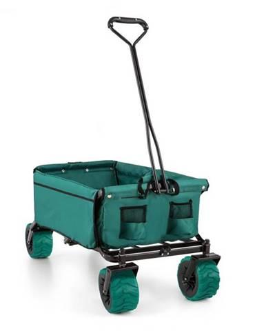 Waldbeck The Green, ručný vozík, skladací, 70 kg, 90 l, kolesá Ø 10 cm, zelený