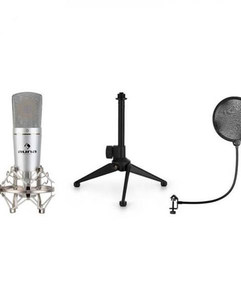 Auna Auna MIC-920, USB mikrofónová sada V1, kondenzátorový mikrofón, statív, pop filter, kardioidná smerová charakteristika