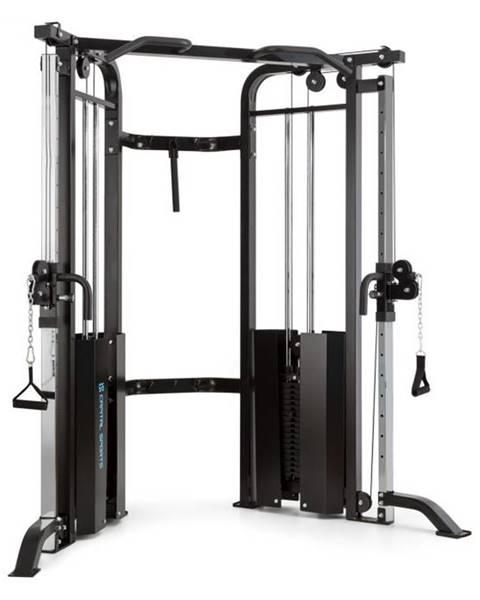 Capital Sports Capital Sports Xtrakter, 2 x 90kg, čierna, posilňovacia premostená veža s dvomi kladkami, oceľ