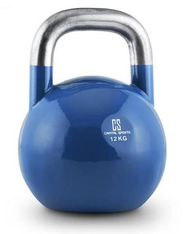 Capital Sports Compket 12, 12kg, modrá, činka kettlebell, guľové závažie