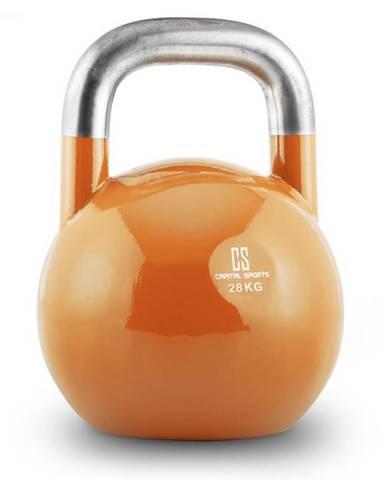 Capital Sports Compket 28, 28kg, oranžová, činka kettlebell, guľové závažie