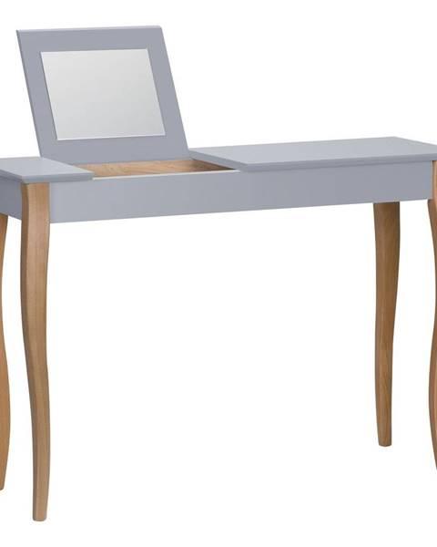 Ragaba Tmavosivý toaletný stolík sozrkadlom Ragaba Dressing Table,dĺžka105cm
