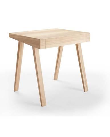 Písací stôl z litovského jaseňa EMKO 4.9, 80 x 70 cm