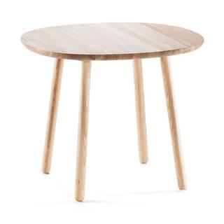 Prírodný jedálenský stôl z masívu EMKO Naïve, ⌀ 90cm