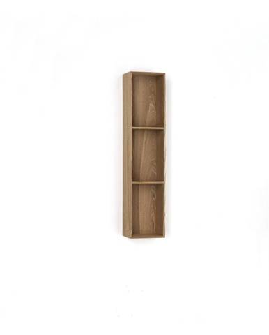 Drevená polička s 3 úložnými priestormi Tomasucci Billa, 90×15×20 cm