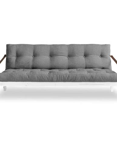 Rozkladacia pohovka so sivým poťahom Karup Design Poetry White/Granite Grey