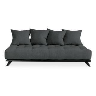 Pohovka s tmavosivým poťahom Karup Design Senza Black/Slate Grey