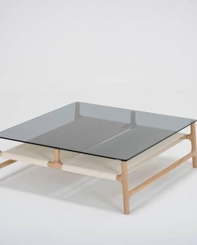 Konferenčný stolík z masívneho dubového dreva Gazzda Fawn, 90 x 90cm