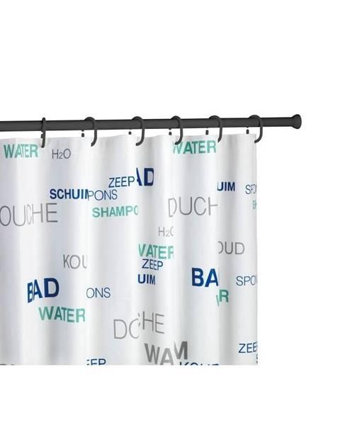 Wenko Čierna teleskopická tyč na sprchový záves Wenko Shower Curtain Rod
