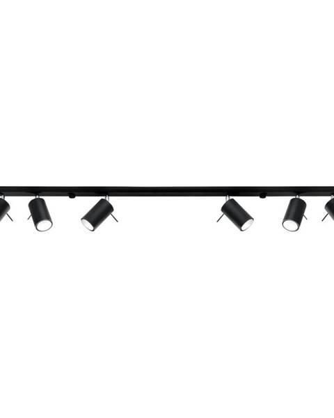 Nice Lamps Čierne stropné svietidlo Nice Lamps Etna 6L