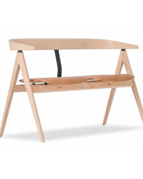 Gazzda Lavica z dubového dreva s koženým sedadlom Gazzda Ava