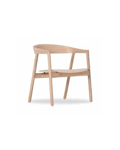 Jedálenská stolička z dubového dreva Gazzda Muna