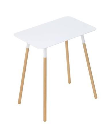 Biely odkladací stolík YAMAZAKI Plain, 45 x 30 cm