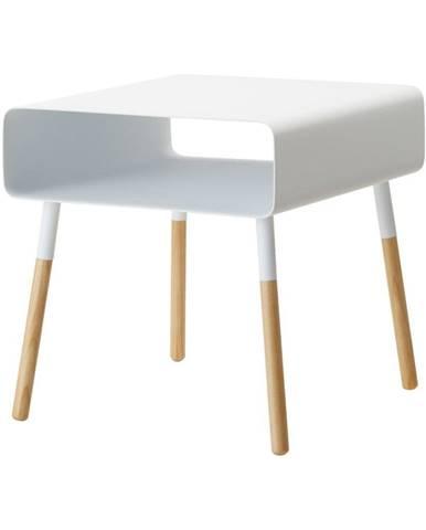 Biely odkladací stolík YAMAZAKI Plain, výška 35 cm