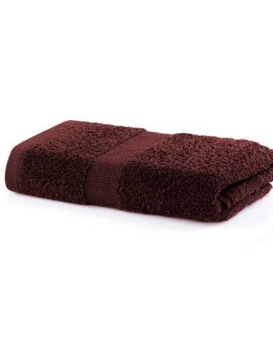 Hnedý uterák DecoKing Marina, 50 × 100 cm