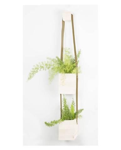 Kvetináč z jedľového dreva Surdic Colgante Duo
