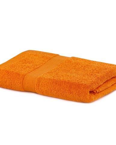 Oranžová osuška DecoKing Marina, 70×140 cm