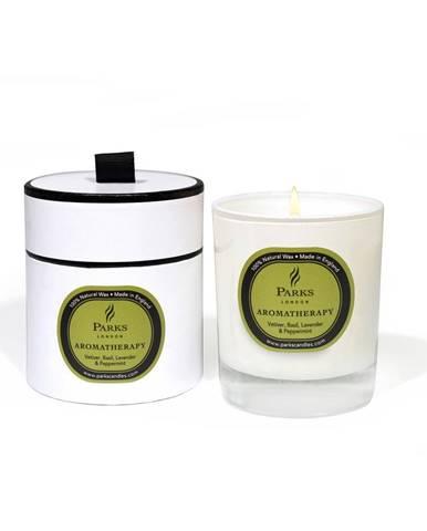 Sviečka s vôňou bazalky, levandule, mäty a vetiveru Parks Candles London Aromatherapy, 50hodín horenia