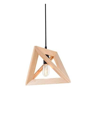 Drevené závesné svietidlo Homemania Geometry