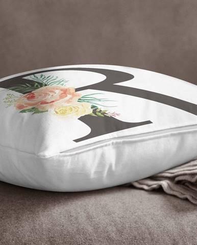 Obliečka na vankúš Minimalist Cushion Covers Floral Alphabet R, 45 x 45 cm