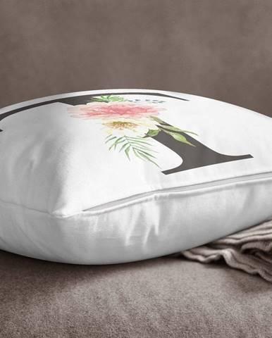 Obliečka na vankúš Minimalist Cushion Covers Floral Alphabet T, 45 x 45 cm