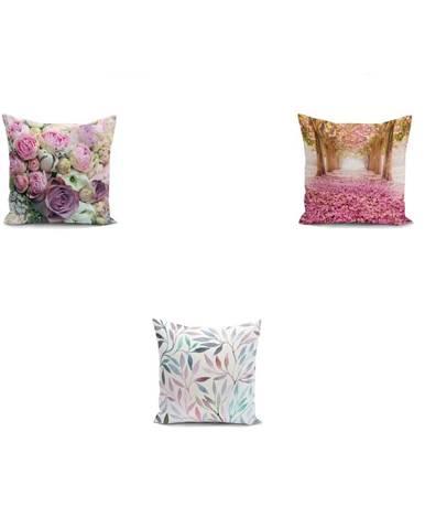 Sada 3 obliečok na vankúše Minimalist Cushion Covers Mesmia, 45 x 45 cm