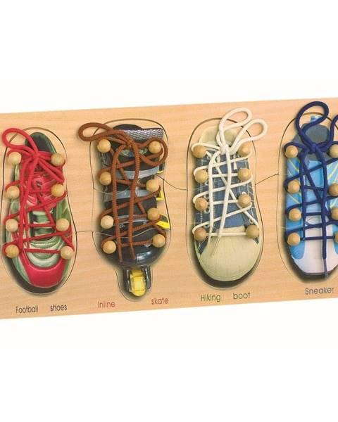 Legler Sada topánok na trénovanie viazania šnúrok Legler Tryshoes