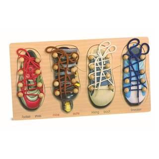Sada topánok na trénovanie viazania šnúrok Legler Tryshoes