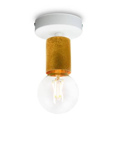 Stropné svietidlo v zlatej farbe Bulb Attack Cero