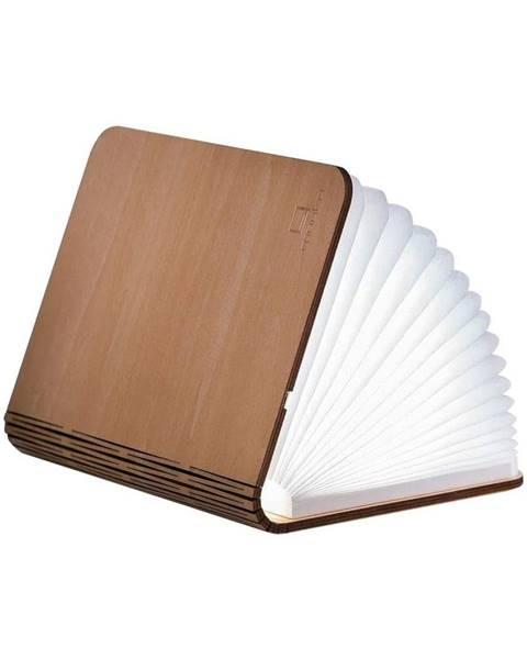 Gingko Svetlohnedá LED stolová lampa v tvare knihy z javorového dreva Gingko Standard