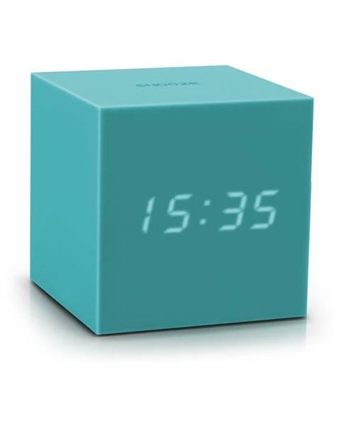 Gingko Tyrkysovomodrý LED budík Gingko Gravitry Cube