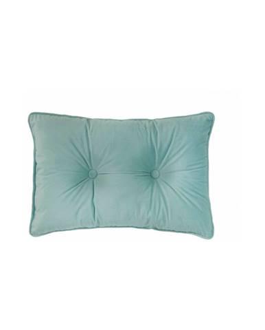 Svetlozelený vankúš Tiseco Home Studio Velvet Button, 40 x 60 cm