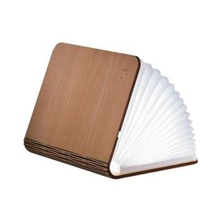 Svetlohnedá LED stolová lampa v tvare knihy z javorového dreva Gingko Standard