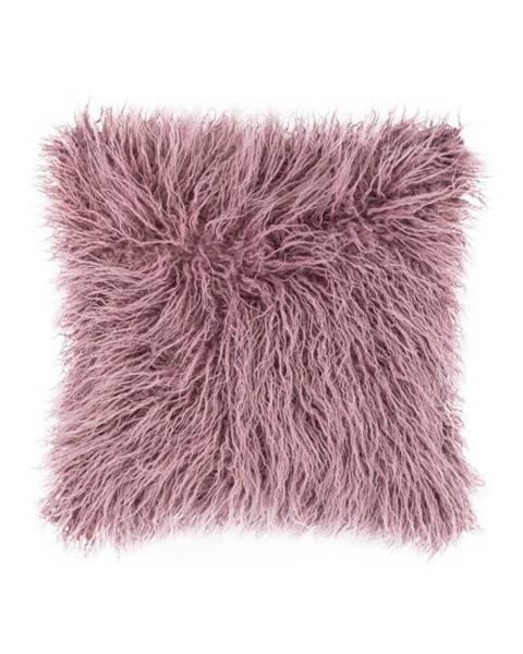 Tiseco Home Studio Ružový chlpatý vankúš Tiseco Home Studio Mohair, 45 x 45 cm