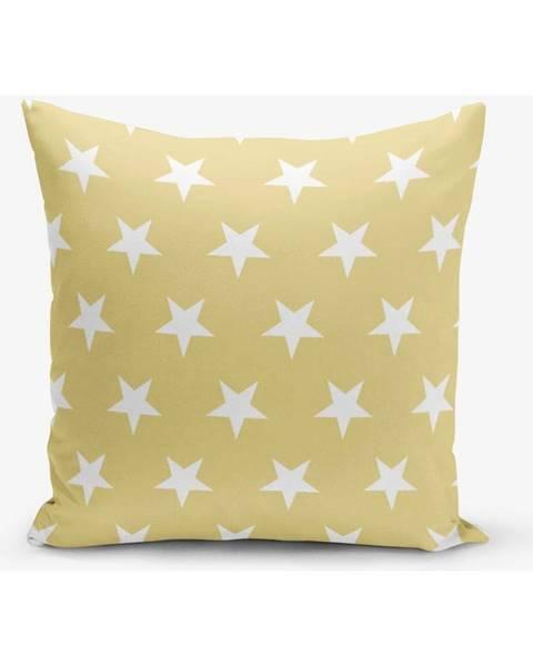 Minimalist Cushion Covers Žltá obliečka na vankúš s motívom hviezdd Minimalist Cushion Covers, 45×45 cm