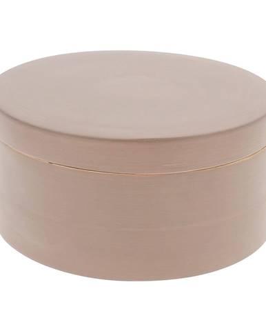 Hnedý bambusový úložný box s vekom Compactor Bamboo Box