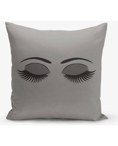 Sivá obliečka na vankúš Minimalist Cushion Covers Lash, 45×45 cm