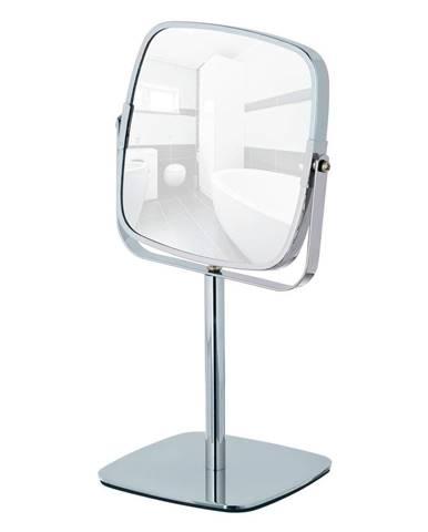 Chrómované kozmetické stojacie zrkadlo Wenko Kare, výška 30cm