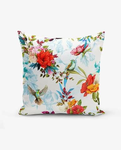Obliečka na vankúš s prímesou bavlny Minimalist Cushion Covers Ethnic Bird, 45×45 cm