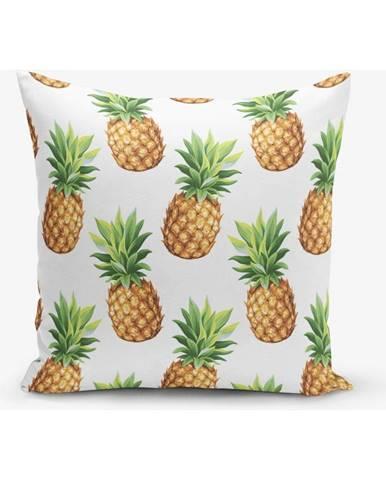 Obliečka na vankúš s prímesou bavlny s motívom ananasu Minimalist Cushion Covers, 45×45 cm