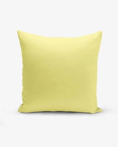 Žltá obliečka na vankúš s prímesou bavlny Minimalist Cushion Covers , 45×45 cm
