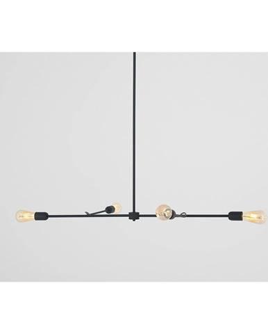 Čierne závesné svietidlo Custom Form Triso Quadro
