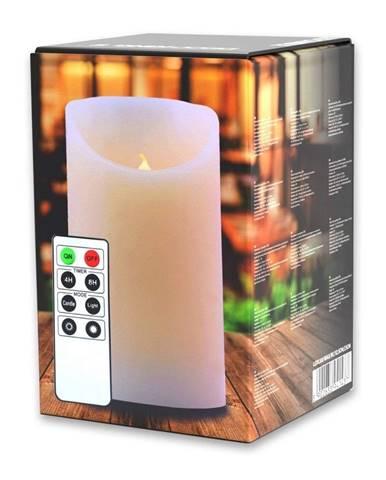 LED sviečka s diaľkovým ovládačom DecoKing Wax, výška 12,5 cm