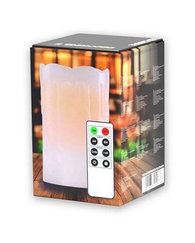 LED sviečka s diaľkovým ovládačom DecoKing Drip, výška 12,5 cm