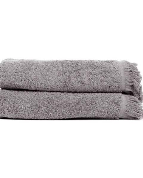 Bonami Sada 2 antracitovosivých uterákov zo 100% bavlny Bonami, 50 × 90 cm