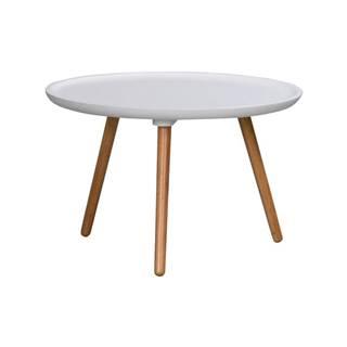 Biely konferenčný stolík Rowico Dellingr, ⌀55 cm